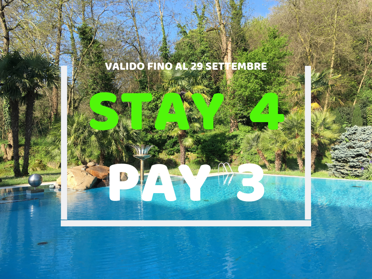 Summer special - stay 4 pay 3